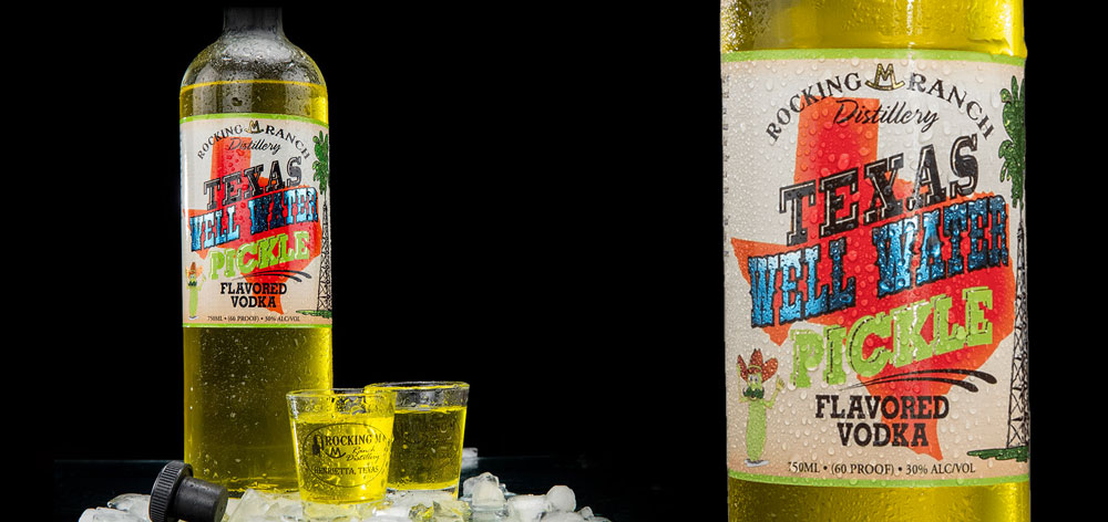 Rocking M Ranch Texas Well Water Pickle Flavored Vodka