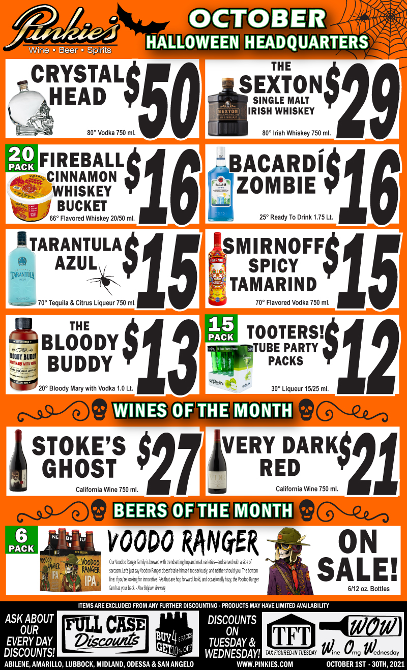 October Monthly Flyer